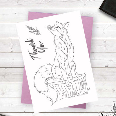 Crafters Companion - Photopolymer Stamp - Fabulous Fox