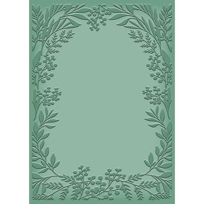 "Natures Garden - Woodland Friends - 5 x 7"" Embossing Folder - Foliage Silhouette"