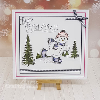 Heartfelt Creations Stamp: Frolicking Frosty (HCPC-3750)