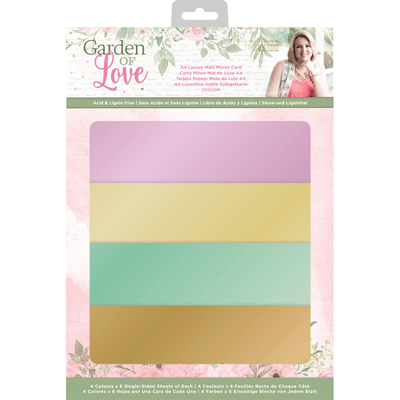 Sara Signature Collection by Crafters Companion - Garden of Love - A4 Luxury Matt Mirror Card