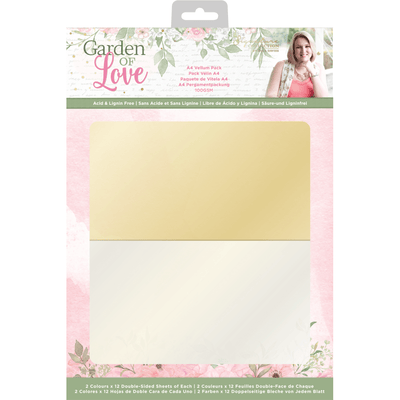Sara Signature Collection by Crafters Companion - Garden of Love - A4 Vellum Pack