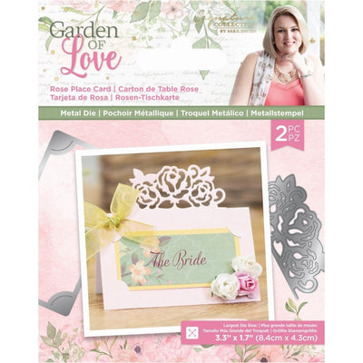 Sara Signature Collection by Crafters Companion - Garden of Love - Metal Die - Rose Place Card