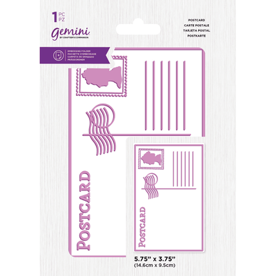 "Gemini by Crafters Companion - 5.75"" x 3.75"" Embossing Folder - Best of British Postcard"