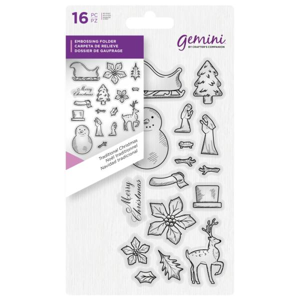 Gemini by Crafters Companion - Clear Stamp - Traditional Christmas