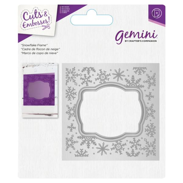 Gemini by Crafters Companion - Cut and Emboss Folder - Snowflake Frame
