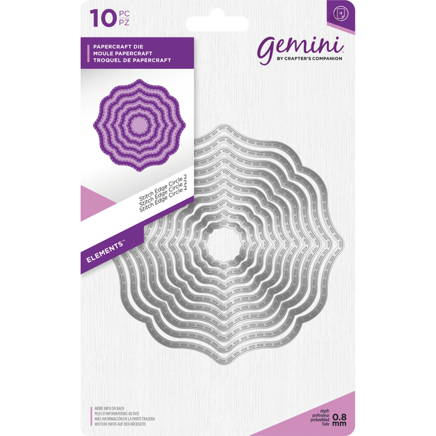 Gemini Die by Crafters Companion - Elements - Stitch Edge Circle 2