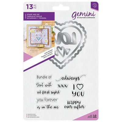 Gemini by Crafters Companion - Stamp & Die - Love Always