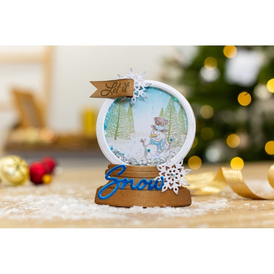 Gemini by Crafters Companion - Stamp & Die - Snow Globe