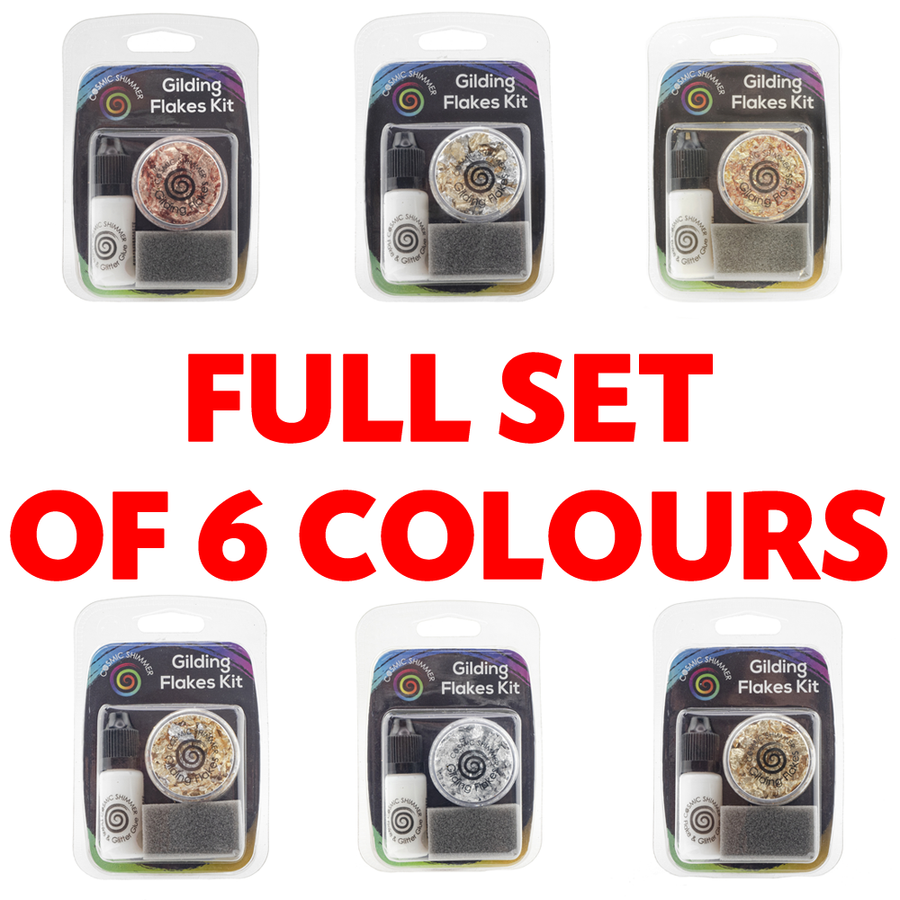 Cosmic Shimmer - Gilding Flakes Kit - Full Set Of 6