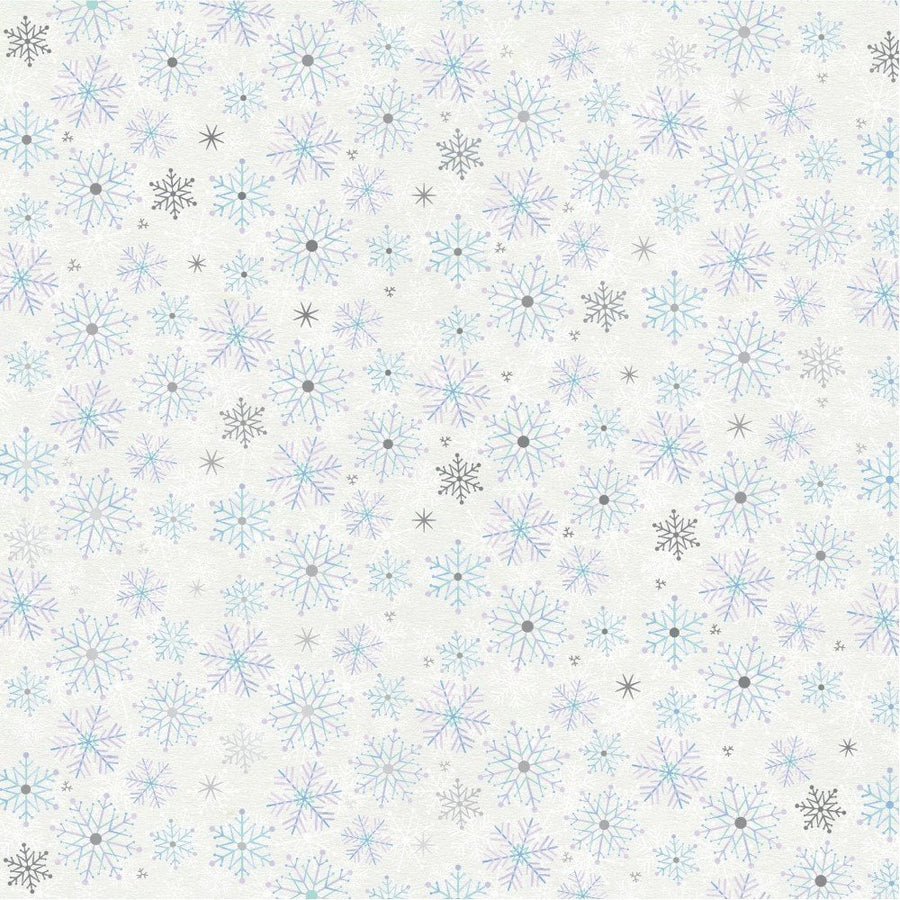 "Sara Signature Collection - Glittering Snowflakes - 12x12"" Paper Pad"