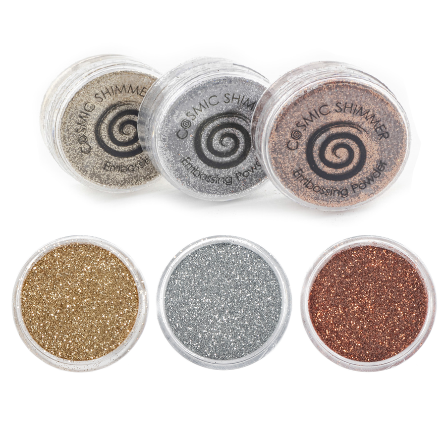 Cosmic Shimmer - Sparkle Embossing Powder Trio