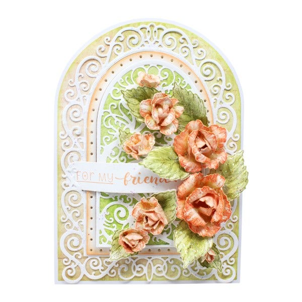 "Heartfelt Creations - 5"" x 7"" Gateway Fold Card - White - HCCB1-495"