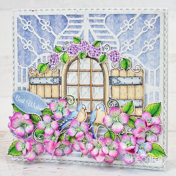 Heartfelt Creations - Decorative Royale - Stairway Gardens Die -  HCD1-7281