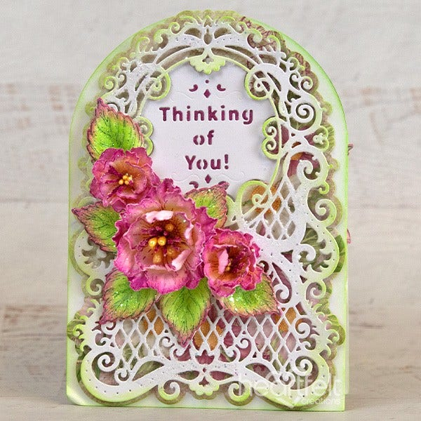 Heartfelt Creations - Lattice Swirl Gateway Die - HCD2-7328