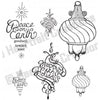 Heartfelt Creations Stamp - Fancy Ornament - HCPC3337