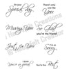 Heartfelt Creations Stamp - Classic Message - HCPC-3354