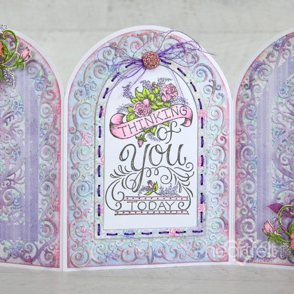 Heartfelt Creations - Elegant Gateway Sentiments Cling Stamp Set - HCPC-3930