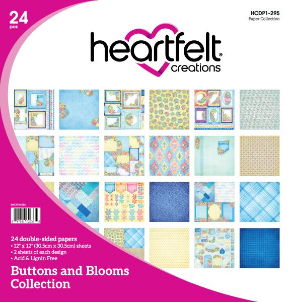 Heartfelt Creations: Buttons and Blooms Paper Collection (HCDP1-295)