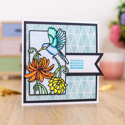 Gemini by Crafters Companion - Stamp & Die - Majestic Hummingbird
