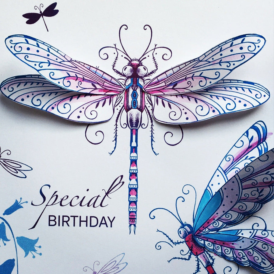 Pink Ink Designs Stamp - Dragonfly