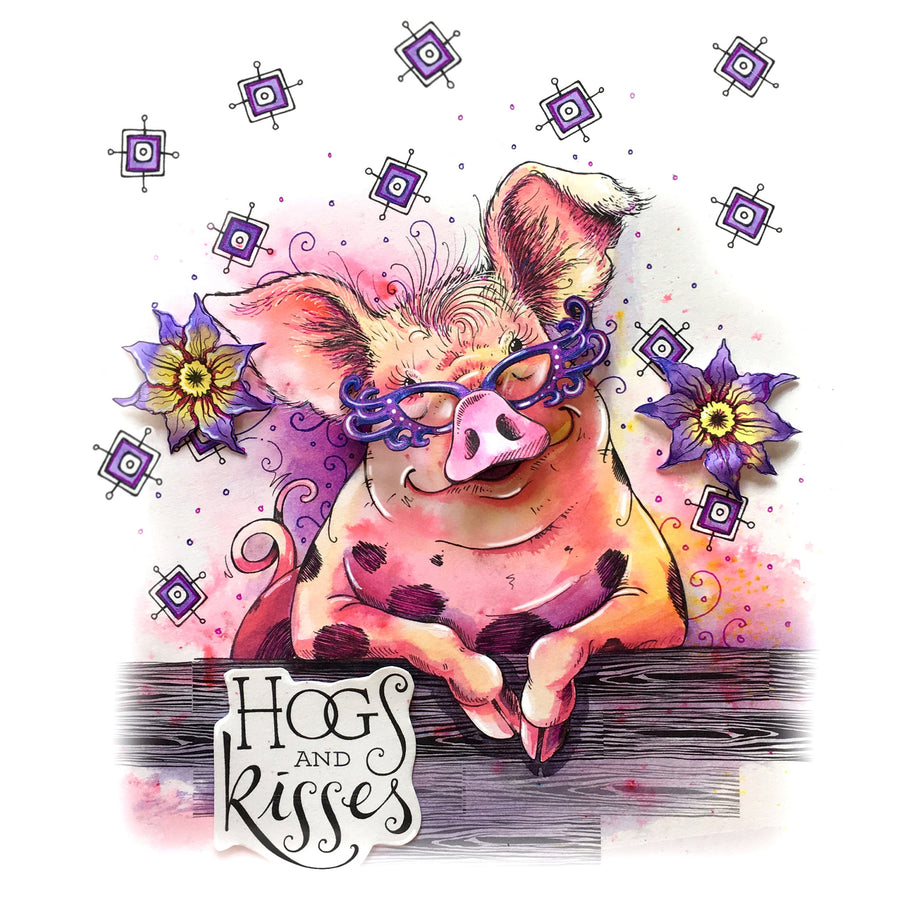 Pink Ink Designs Stamp - Pigtastic