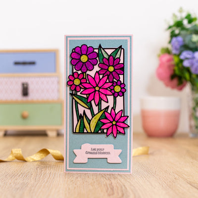 Gemini by Crafters Companion - Stamp & Die - In Full Bloom