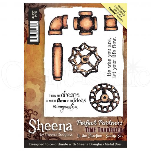 Sheena Douglass Perfect Partner Time Traveller A6 Unmounted Rubber Stamp - In the Pipeline