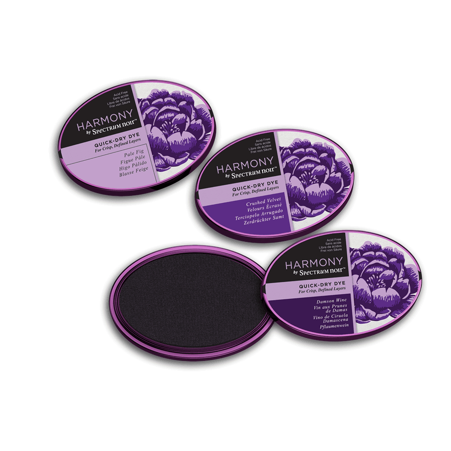 Spectrum Noir Inkpad - Harmony Quick-Dry Dye - 3 Pack - Regal Purples