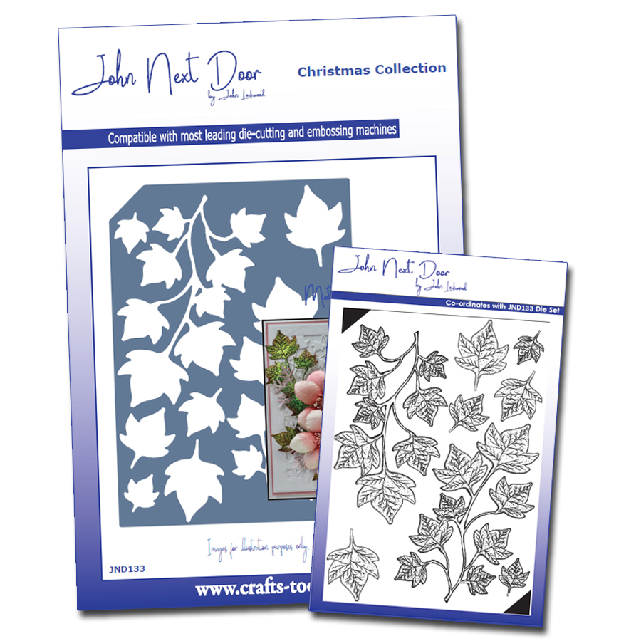 John Next Door Christmas Dies.John Next Door Christmas Stamp Die Shaded Ivy Bundle