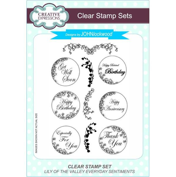 John Lockwood Stamps - Lily Of The Valley Everyday Sentiments Clear Stamp Set