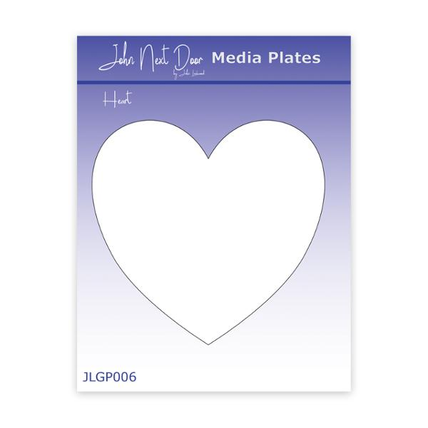 John Next Door Media Plate - Heart