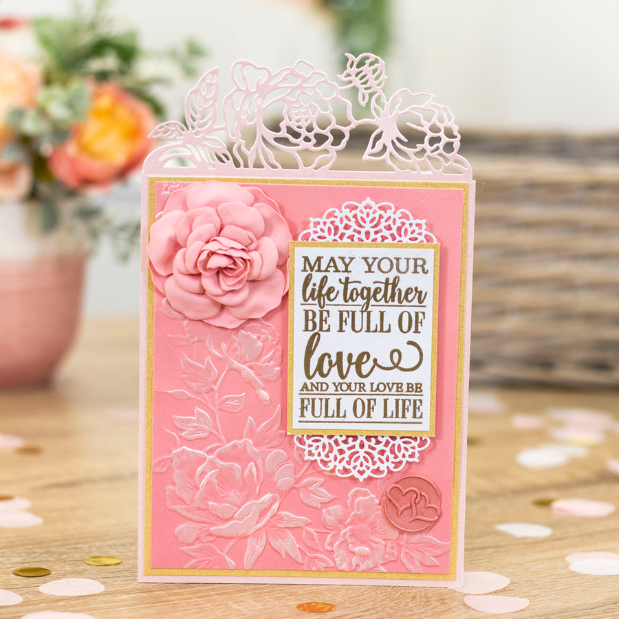 Sara Signature Collection by Crafters Companion - Garden of Love - Acrylic Stamp - To Have and to Hold