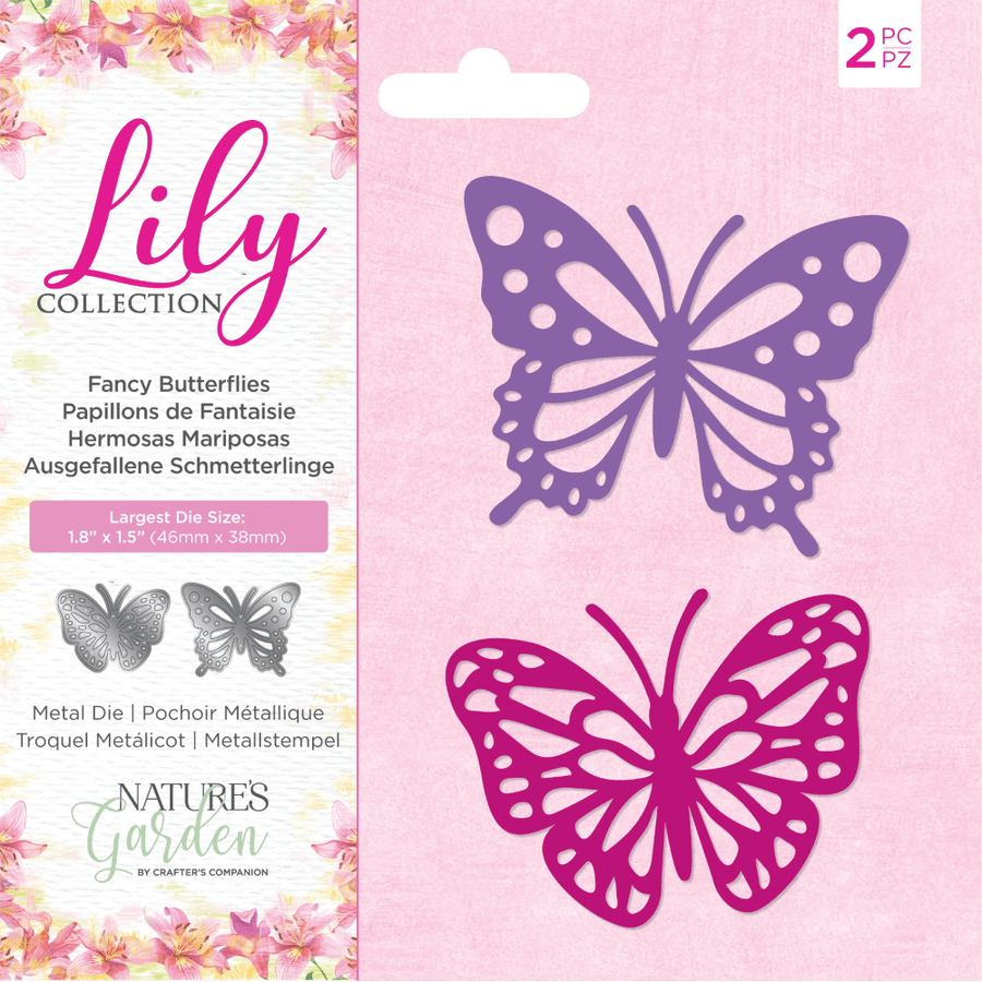 Nature's Garden Lily Collection - Metal Die - Fancy Butterflies