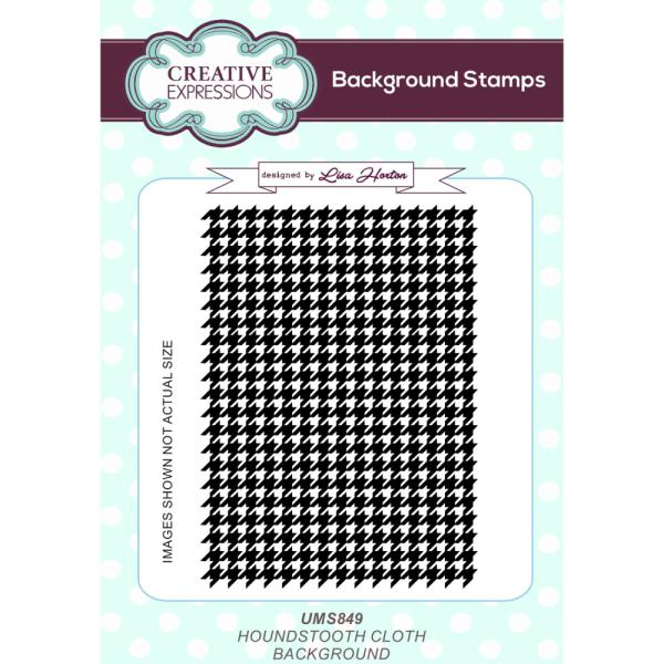 Lisa Horton Stamps - Houndstooth Cloth A6 Background Stamp