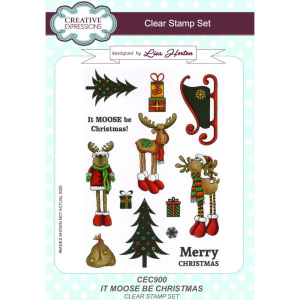 Lisa Horton Stamps - It Moose Be Christmas A5 Clear Stamp Set