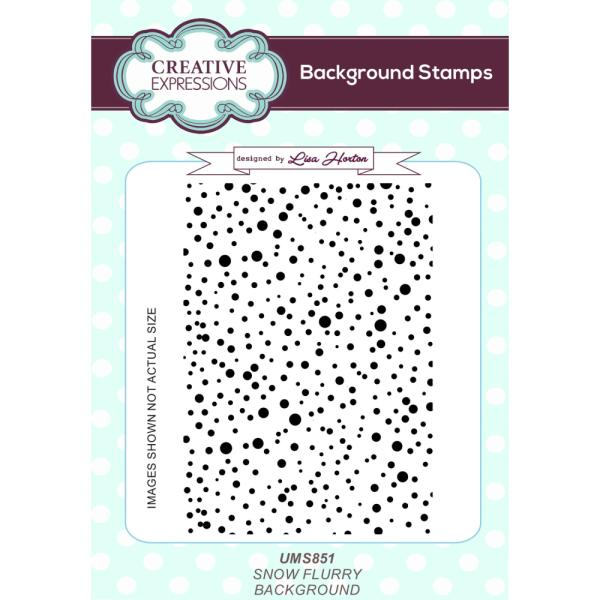 Lisa Horton Stamps - Snow Flurry A6 Background Stamp