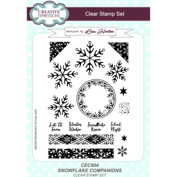 Lisa Horton Stamps - Snowflake Companions A5 Clear Stamp Set