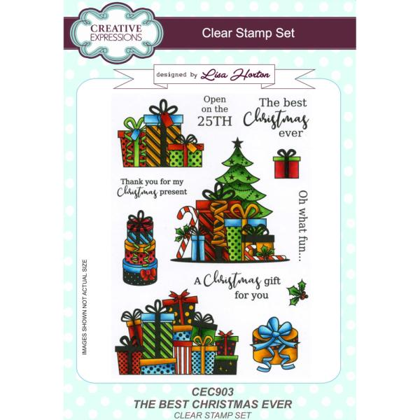 Lisa Horton Stamps - The Best Christmas Ever A5 Clear Stamp Set
