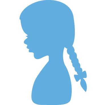 Marianne Creatables - Silhouette Girl with Ponytails LR0350