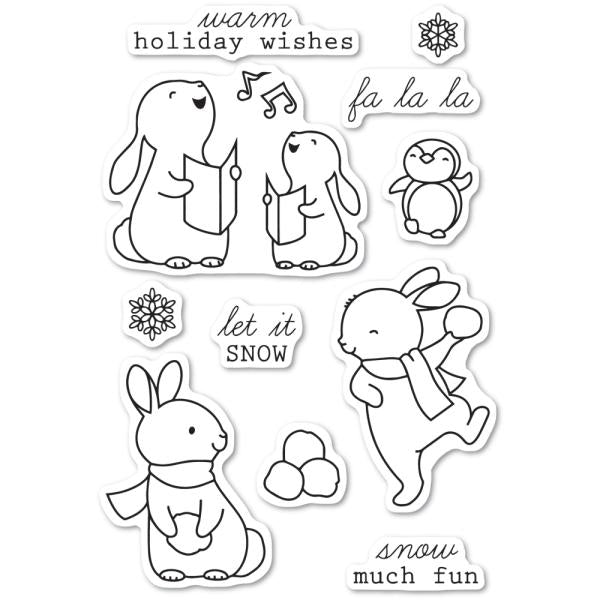 Memory Box: Snow Much Fun Clear Stamp Set - CL5224