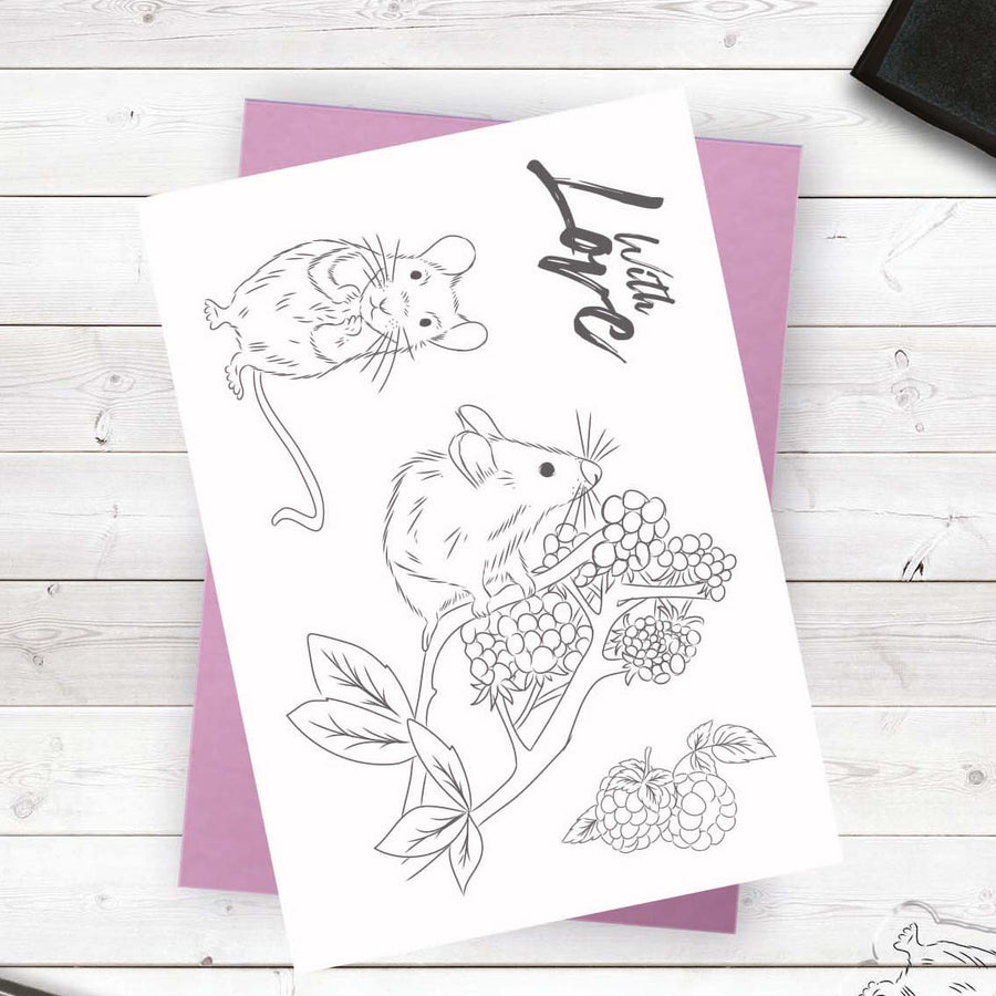 Crafters Companion - Photopolymer Stamp - Field Mice