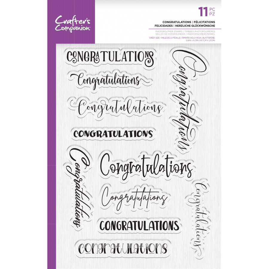 Crafters Companion Stamp - Congratulations