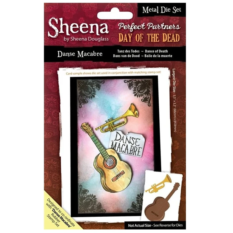 Sheena Douglass Perfect Partners Day of the Dead - Danse Macabre Thin Metal Die