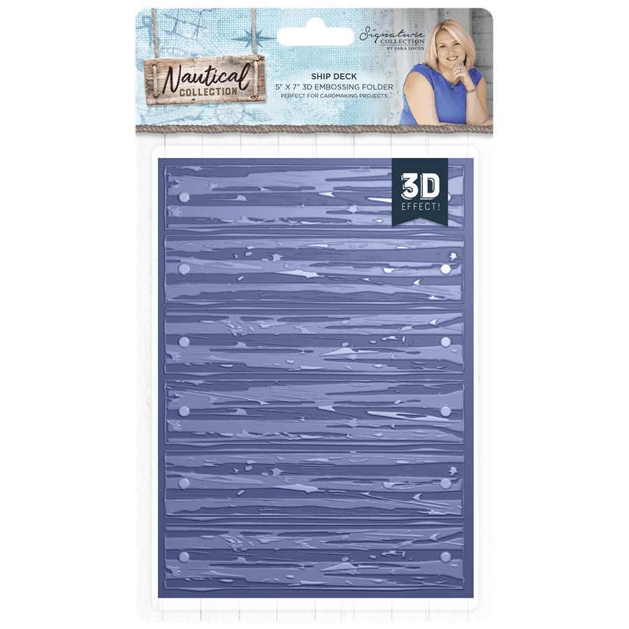 Sara Signature Collection - Nautical - 5x7 3D Embossing Folder - Ship Deck