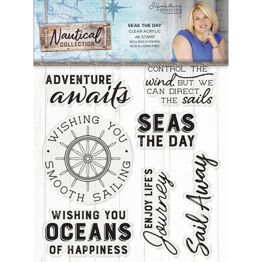 Sara Signature Collection - Nautical - Acrylic Stamp - Seas the Day