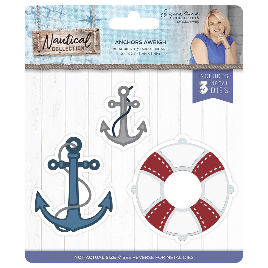 Sara Signature Collection - Nautical - Metal Die - Anchors Aweigh