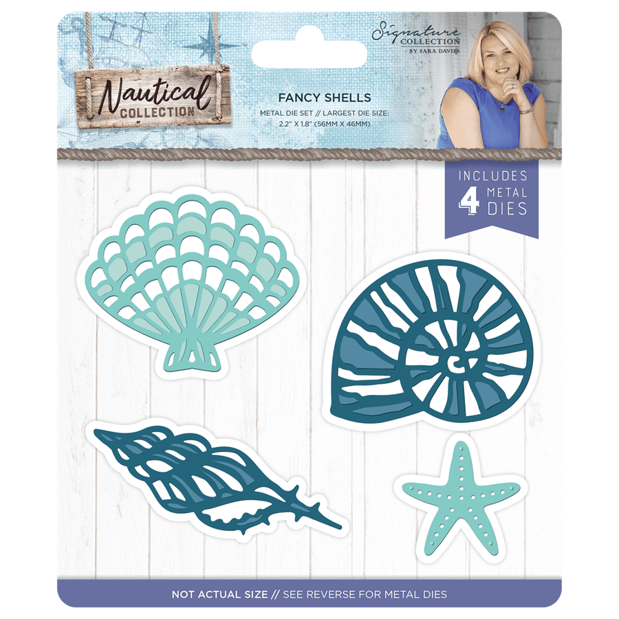 Sara Signature Collection - Nautical - Metal Die - Fancy Shells