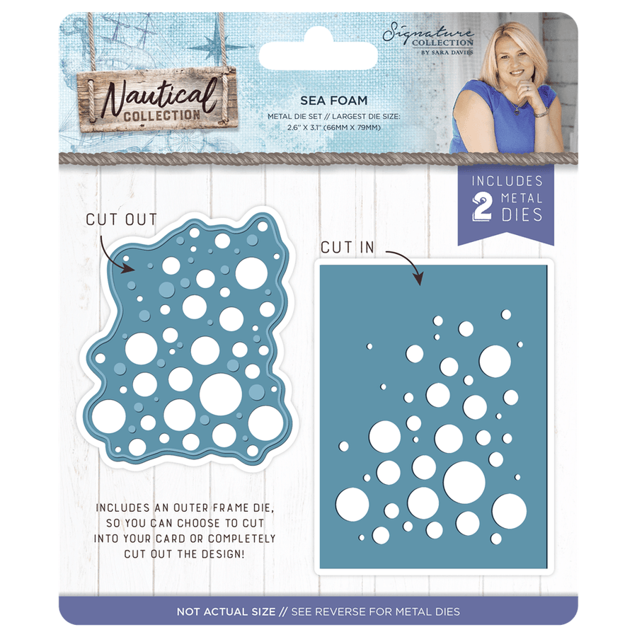 Sara Davies Nautical Signature Collection Acrylic Stamp Seas the Day