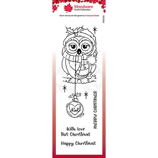 Woodware Clear Singles - Bauble Owl - FRS401