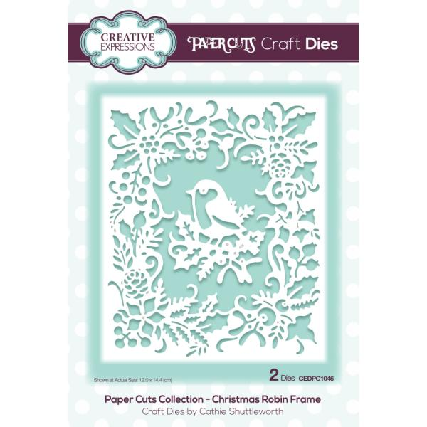 Paper Cuts Collection - Christmas Robin Frame Craft Die